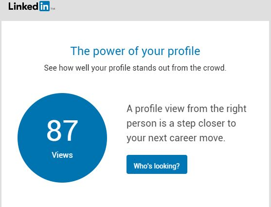 linkedin views - Kath